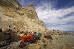 photo of Tractors And Gannets Of Cape Kidnappers Hawkes Bay