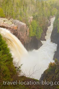photo of Aguasabon Falls Terrace Bay Ontario Canada