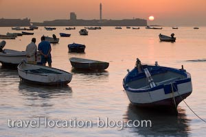 photo of Cadiz Harbour At Sunset Andalusia Spain