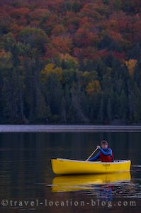 photo of Paddling Our Canoe In Algonquin Provincial Park