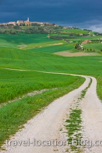 photo of Country Road Pienza Tuscany Italy