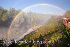 photo of Rainbows Over The Kaministiquia River Gorge Ontario