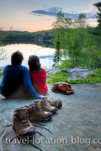 photo of Romantic Sunset Killarney Provincial Park Ontario