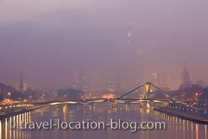 photo of Dusk Over The Main River In Frankfurt Germany