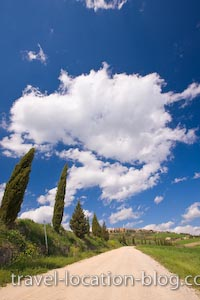 photo of Tuscan Road Picture Pienza Italy