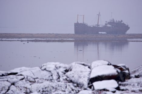 photo of MV Ithaca Shipwreck Hudson Bay Churchill