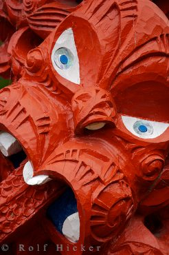 photo of Maori Totem Carving