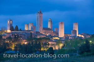 photo of San Gimignano Dusk Tuscany Italy