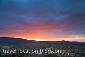 photo of Elusive Sunset In San Gimignano Tuscany Italy