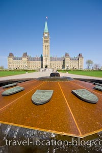 photo of Centennial Flame Parliament Buildings Ottawa Ontario