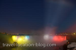 photo of Falls Illumination Niagara Falls Ontario Canada
