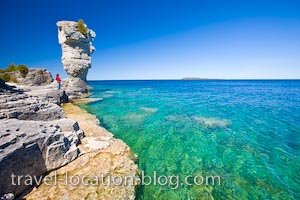 photo of Flowerpots Of Flowerpot Island Fathom Five Marine Park Ontario